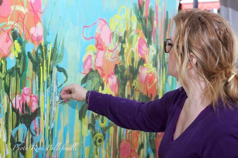 Jardin en direct -de ÖMiserany en réalisation peinture en direct édition 2014