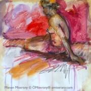 un monde en couleurs -Femme distante