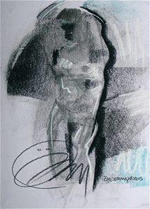 Tiffany dessin corps sculptural