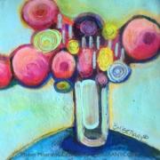 En équilibre globule Rose