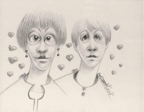 Titeface d'amour #807-808/1001. 2017, ÖMiserany©