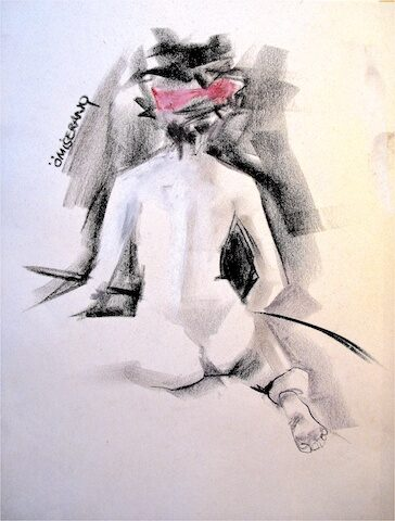 Femme au bandeau rose