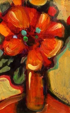 En équilibre Fleur orange