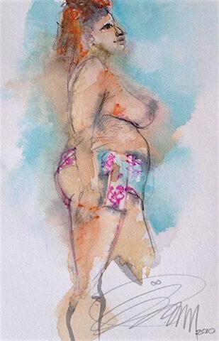 Femme foulard