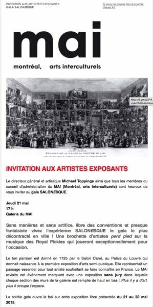 poster invitation de mai gala es que