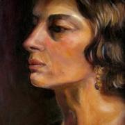 No-13 portrait -étude de visage, vieux maitre 'ÖMISERANY