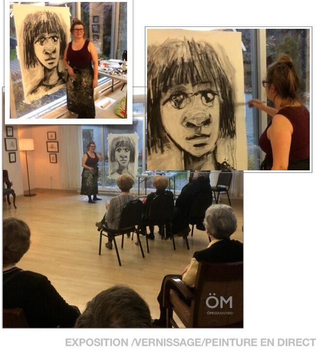 Manon Miserany ÖMiserany-conférence et peinture en directe