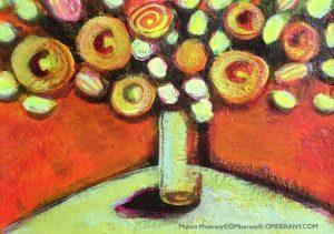 En équilibre joie florale