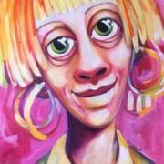 Titeface de la fille en rose