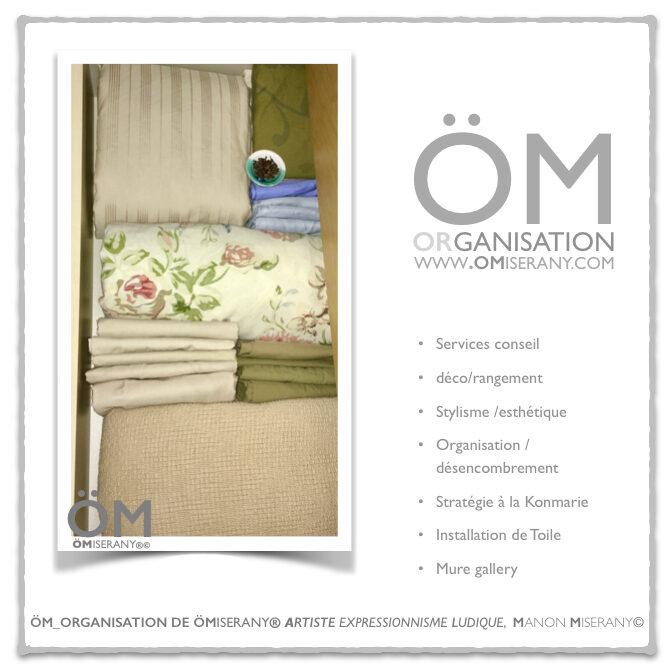 Astuces rangement Draps dans un tiroirs -services  ÖM_organisation de ÖMiserany