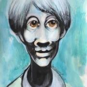 Titeface bleu oscar , 2018, ÖMiserany®