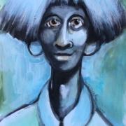 Titeface bleu Georgette dans la lune ÖMiserany®