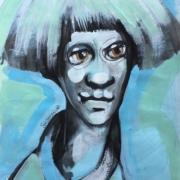 Titeface bleu moderne interrogation,2018 ÖMISERANY