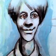 Titeface bleu Bertrand-satisfait