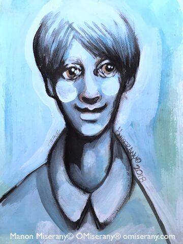 Titeface bleu la douceur de Gabriel
