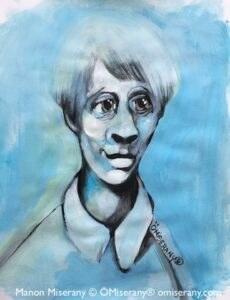 Titeface bleu certitude lointaine