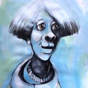 Titeface bleu Chic souvenir, ÖMiserany® ARTISTE