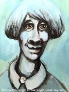 Titeface bleu la religieuse
