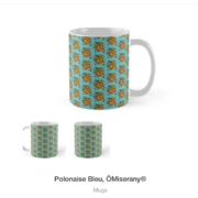 Tasse de la collection polonaise bleu ÖMiserany®