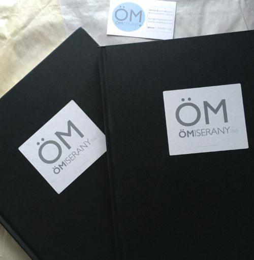 cahier - de dessin avec le logo de ÖMISERANY