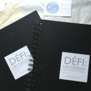 cahier - de dessin avec le logo de : Un défi par jours durant 30 jours de ÖMISERANY