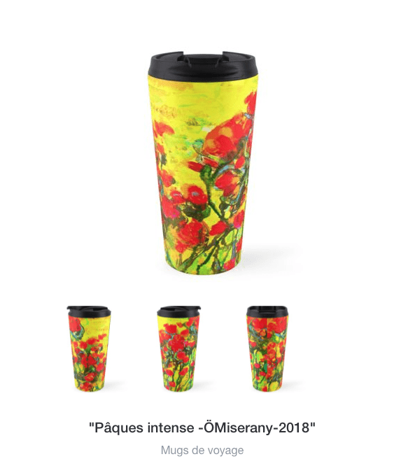 tasse de voyage de la collection pâque-intense, omiserany-2018
