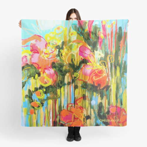 foulard-Jardin en direct 2019 ÖMiserany® ARTISTE  Manon Miserany©