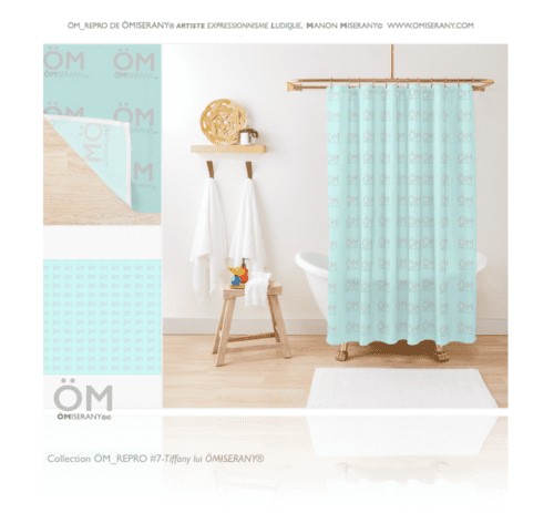 #7 Tiffany lui ÖMiserany 2019- Rideaux de douche de la Ligne  ÖM_REPRO ÖMiserany® ARTISTE Manon Miserany©