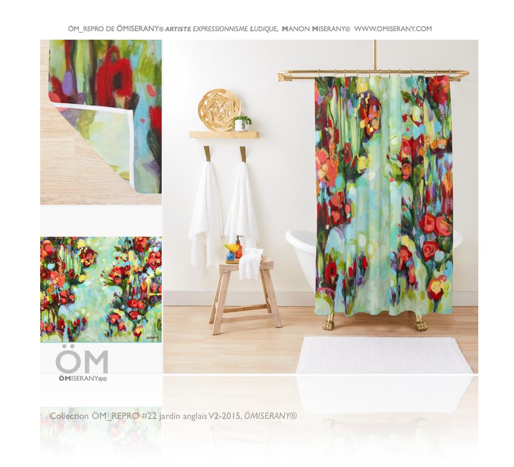 rideaux de douche de la collection jardin anglais V2-2015 de ÖMiserany®