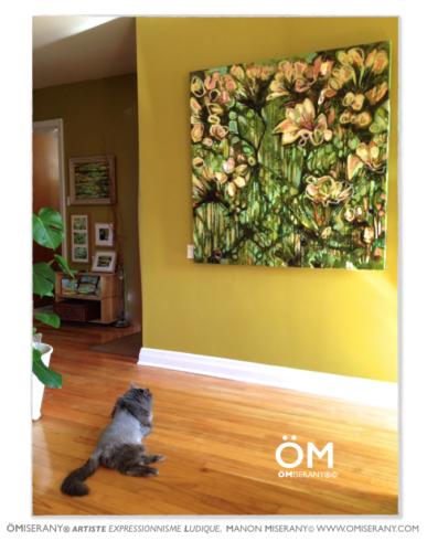 ÖM_gallery et son mur vert