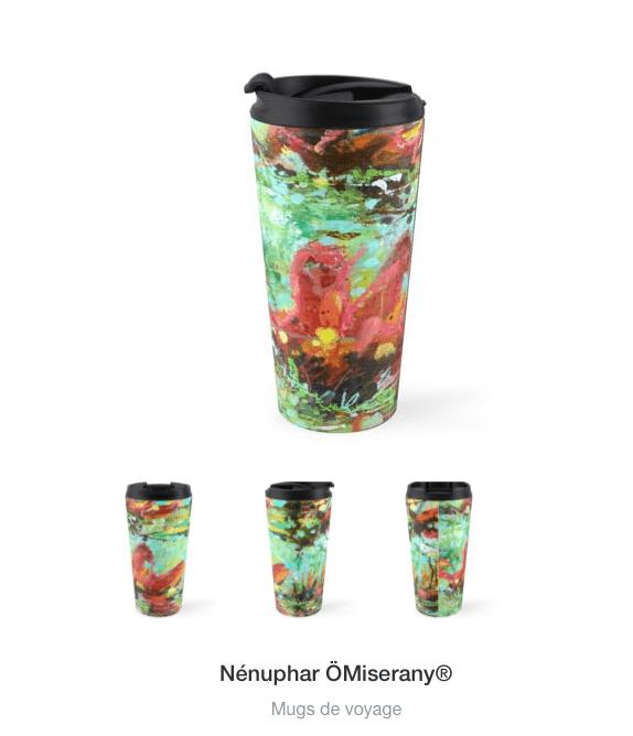 tasse de voyage collection #3-Nénuphar-ÖMiserany®2018