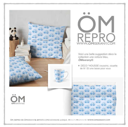 ÖM_REPRO collection une voiture bleu omiserany
