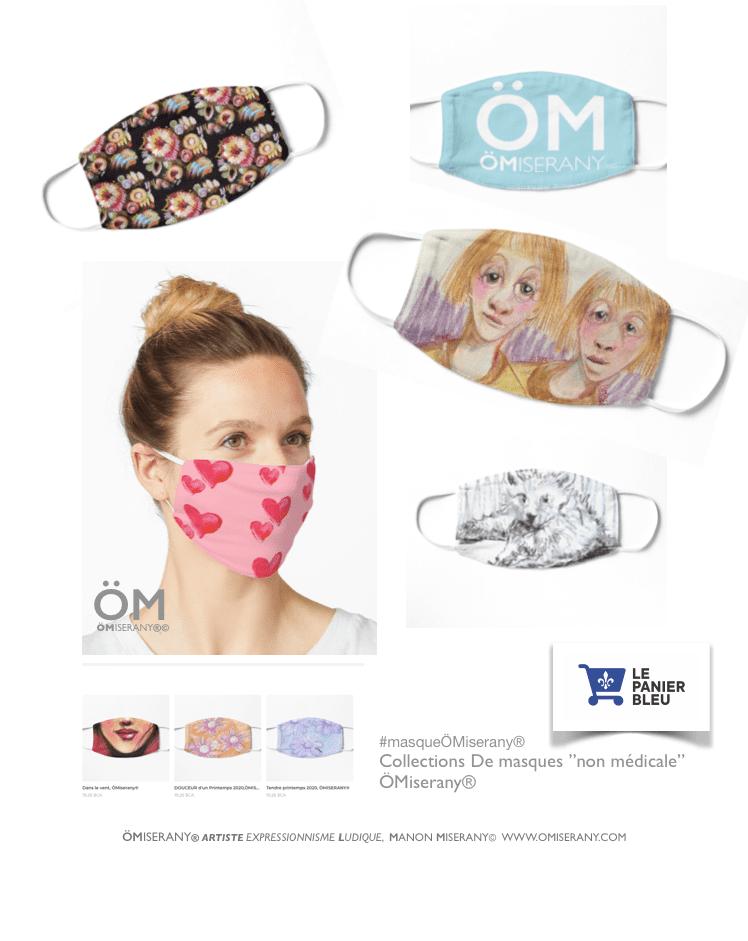 page de petite masque personnalisé design omiserany