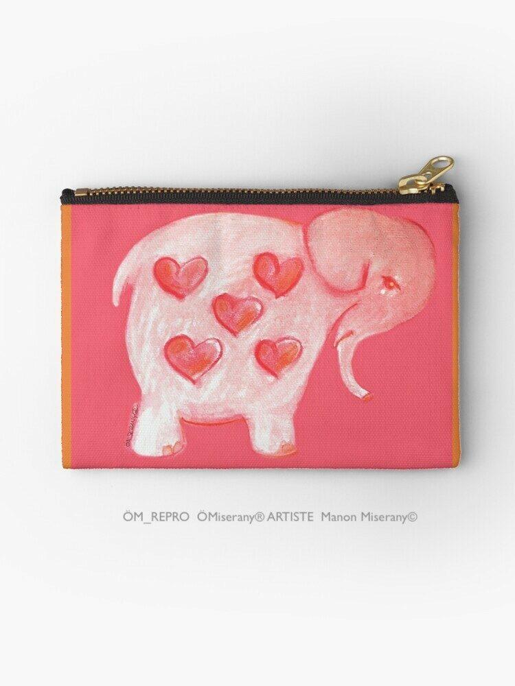pochette #25-un éléphant rose, ÖMiserany Manon Miserany© 2020