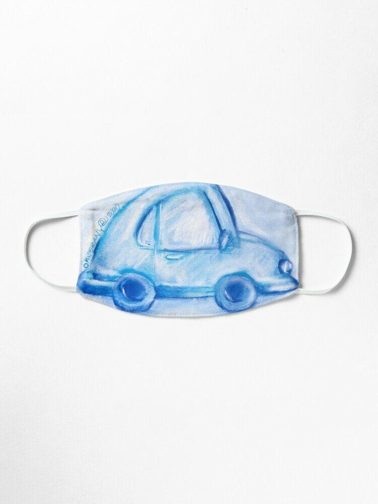 masque #26-une voiture bleu 2020, ÖMISERANY®
