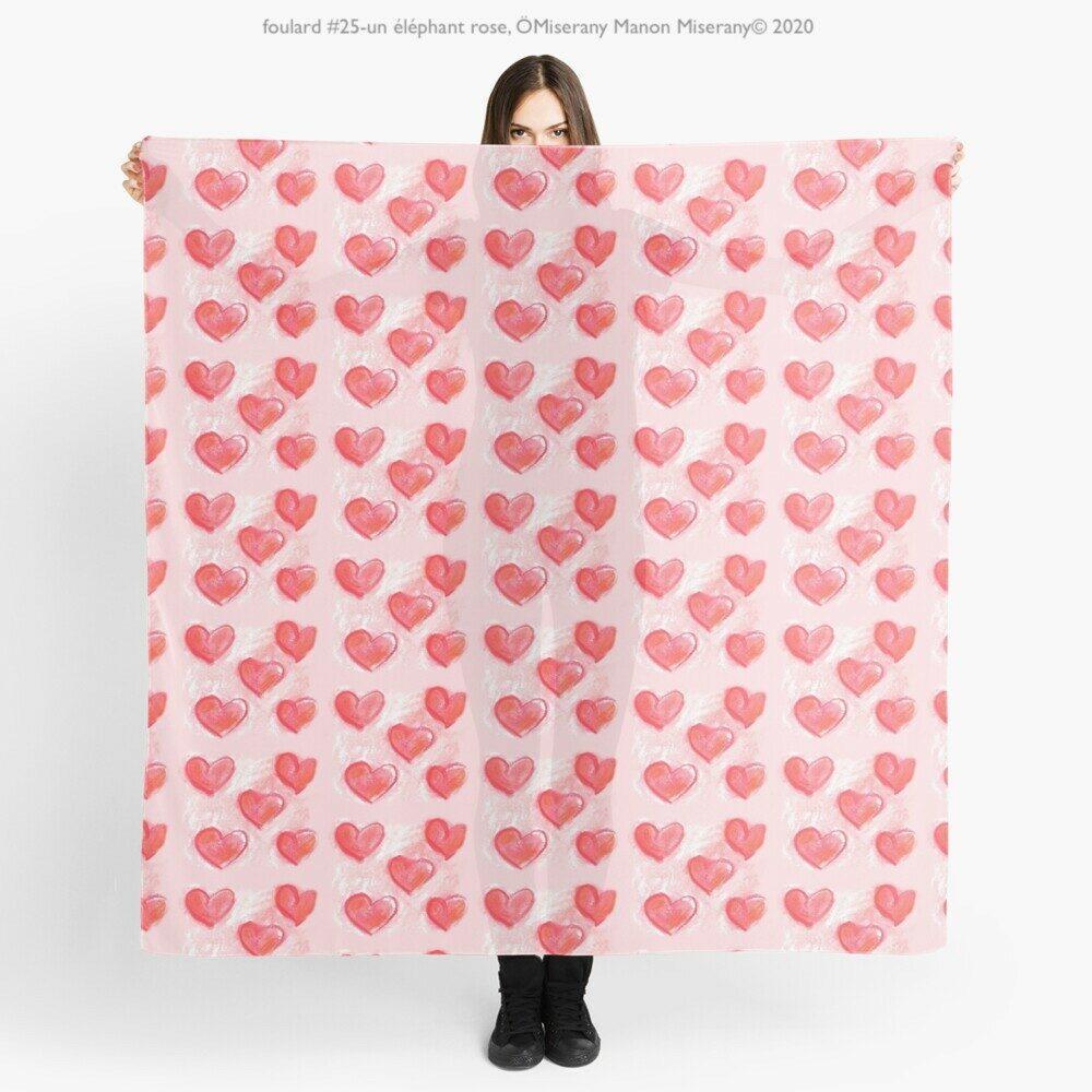 foulard #25-un éléphant rose, ÖMiserany Manon Miserany© 2020