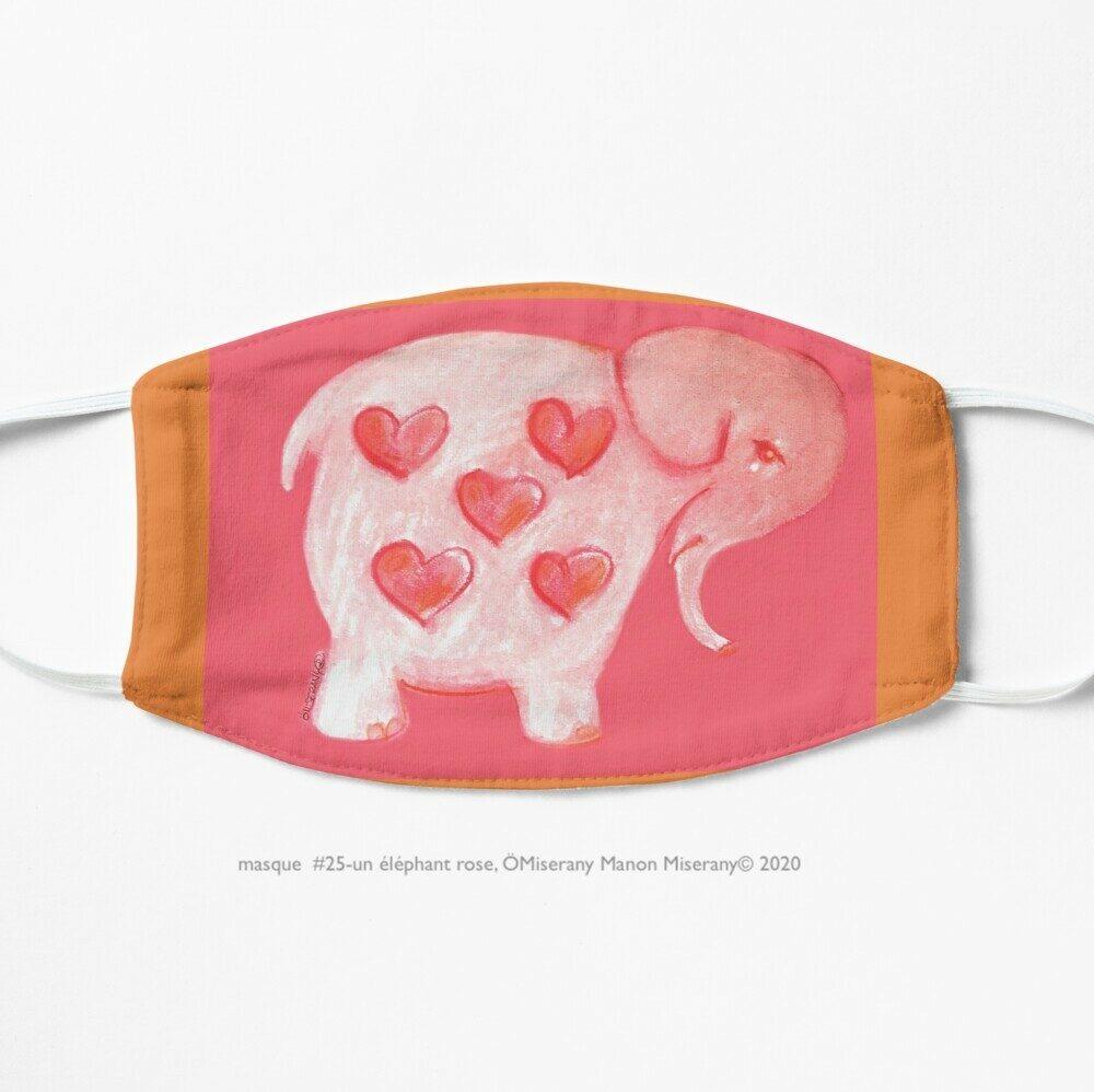 masque #25-un éléphant rose, ÖMiserany Manon Miserany© 2020