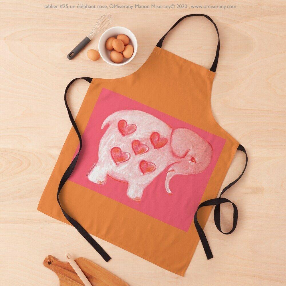 tablier#25-un éléphant rose, ÖMiserany Manon Miserany© 2020