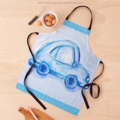 tablier #26-une voiture bleu 2020, ÖMISERANY®