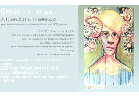 Cartel ÖMiserany 15ans -15% du 15juin-15juillet 2021 le 2021