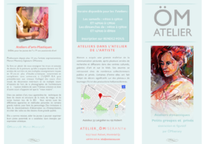 Le nouveau dépliant à ÖM_ATELIER 2020 de ÖMISERANY couverture