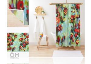 rideaux de douche de la collection jardin anglais V2-2015